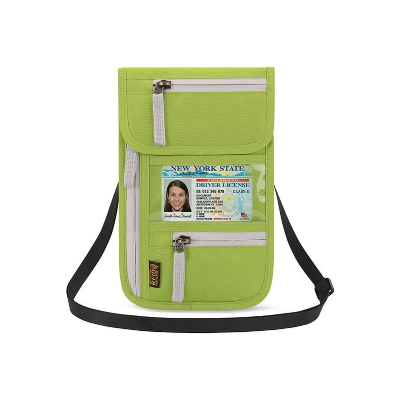 Travel Pouch Neck Wallet Organizer With RFID Blocking