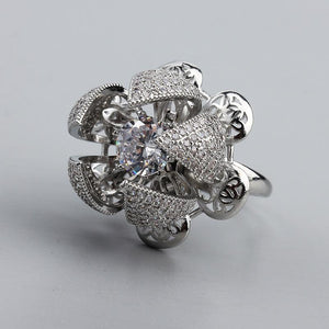 Open Flower Ring