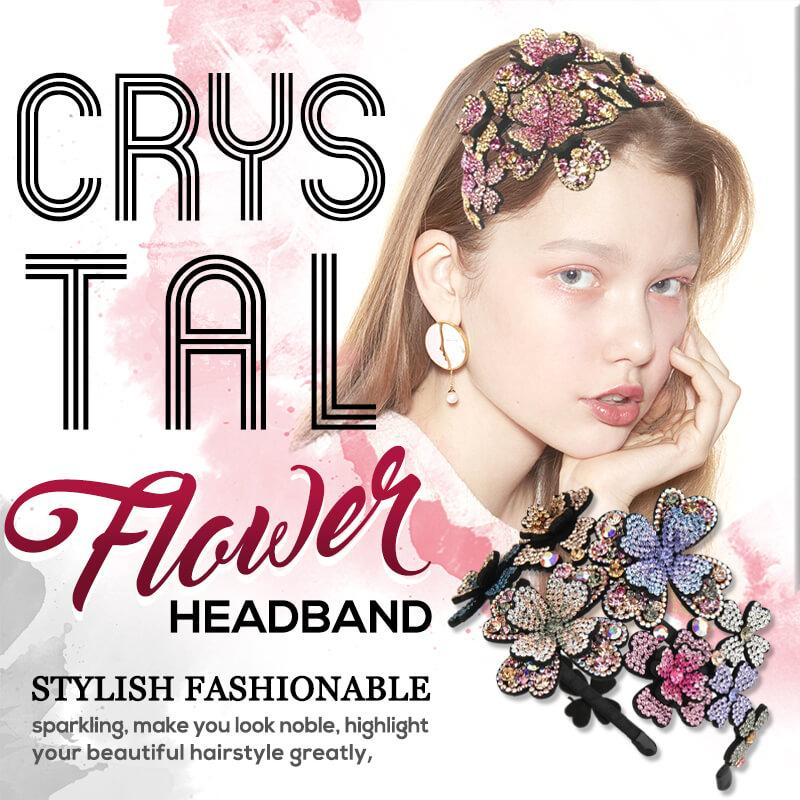 Crystal Flower Headband