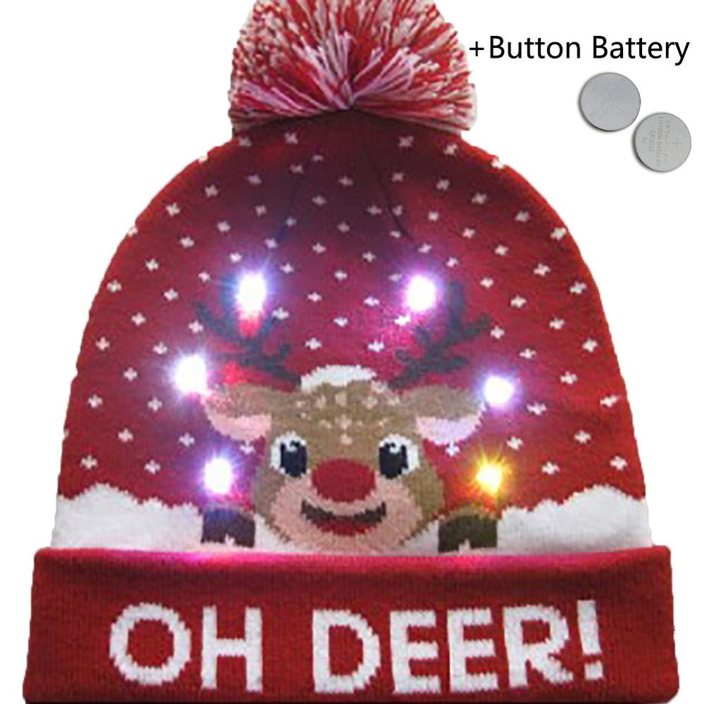 Colorful glowing Christmas hat
