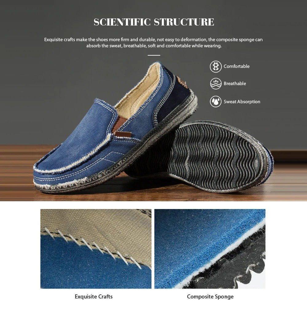 Fashion classic men's canvas shoes