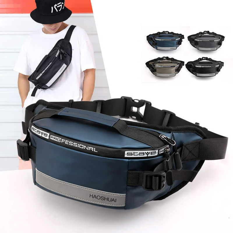 Multifunctional leisure outdoor sports cool anti-collision reflective waist bag