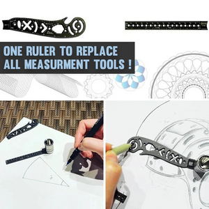 Multifunctional Magnetic Drawing Ruler