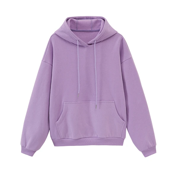 Women's Toppies-Hooded Tracksuits Oversized Fleece Hoodies Solid Color