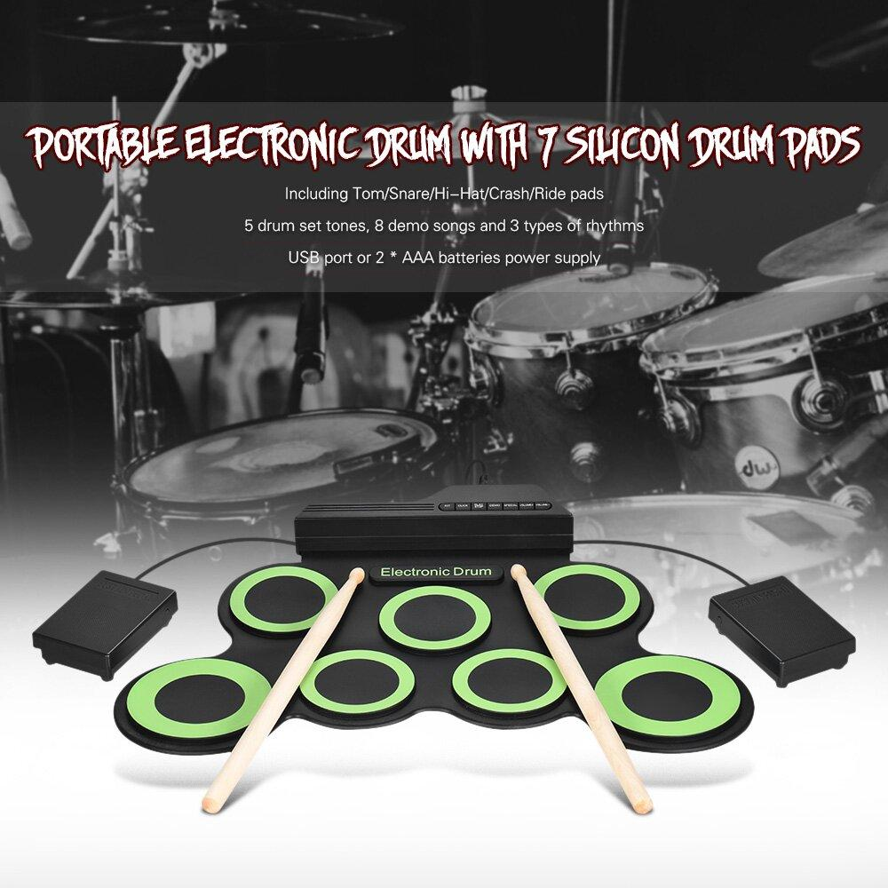 Hand-rolled USB portable electronic drum