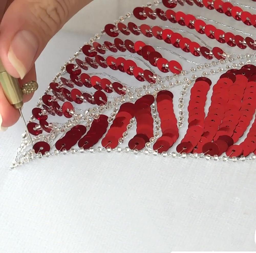 Embroidery crochet