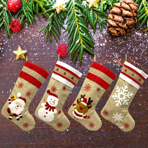 "New 19"" Large Christmas Stockings 4 Pack for Family"