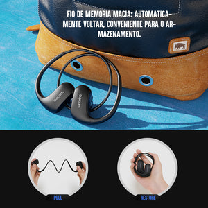Wireless Bluetooth, IPX7 Waterproof Sports Bass Headphones with Mic for Running