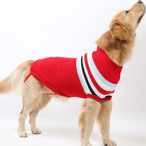 Autumn and winter thick sleeveless large dog sweater