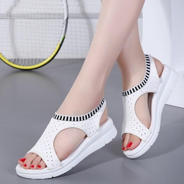 2019 New Women Wedge Slip-on Summer Sandals