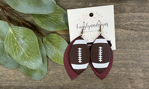 Game Day football earrings
