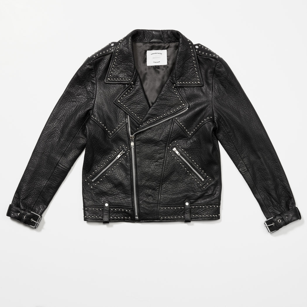 PEBBLED JACKSON MOTO JACKET