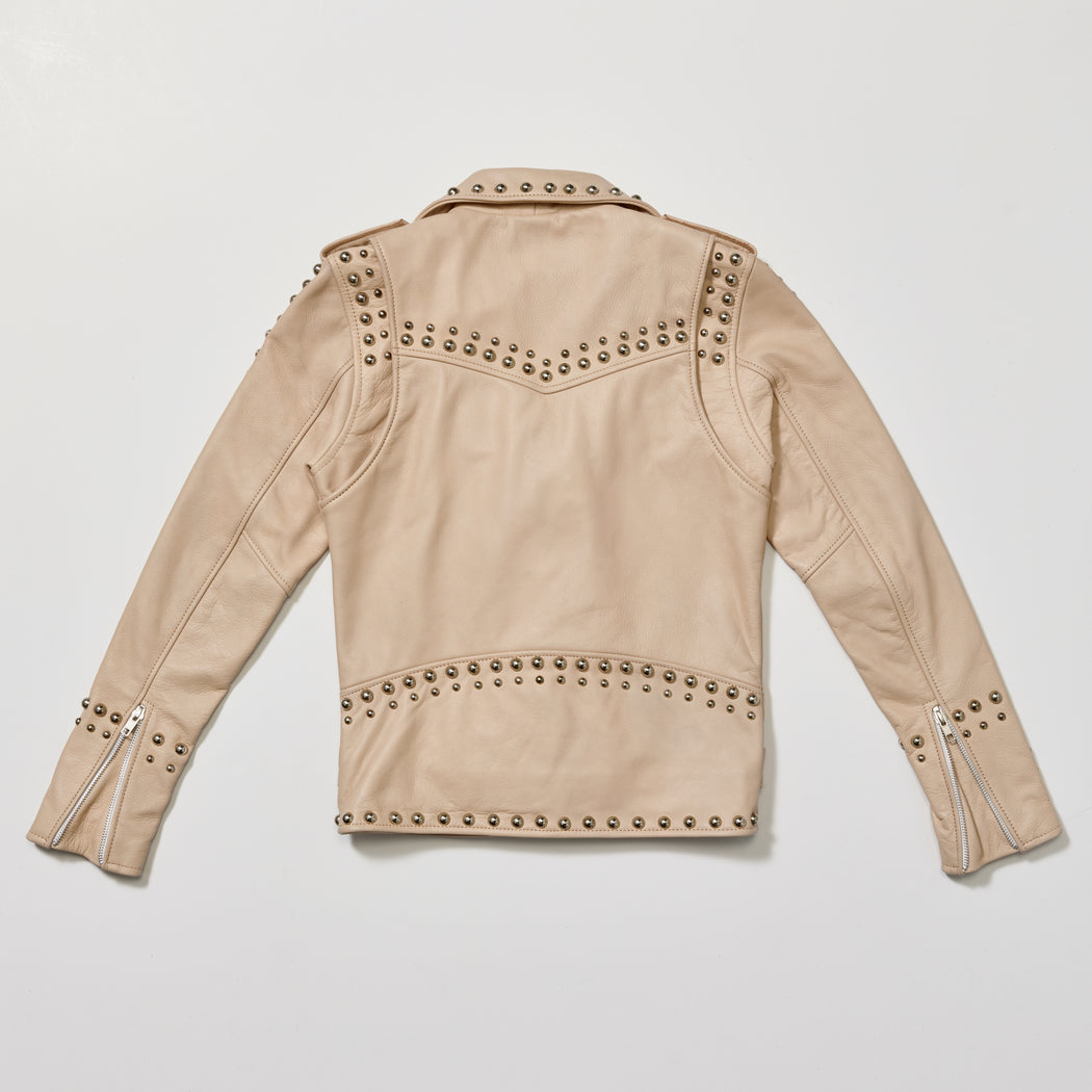 BUTTERCREAM WESTERN DOME STUDDED JACKET