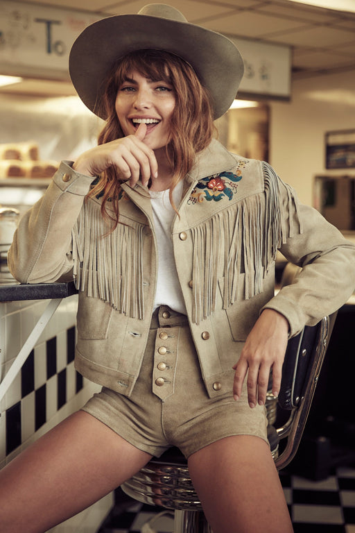 AM x UL Embroidered Dust Western Jacket