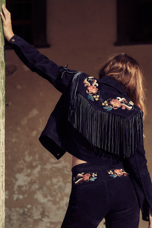AM x UL Embroidered Ink Western Jacket