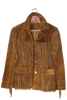 TAN FRINGED SUEDE JACKET