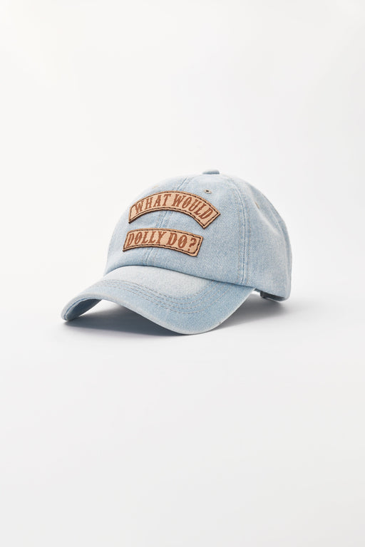 WHAT WOULD DOLLY DO Denim Baseball Hat