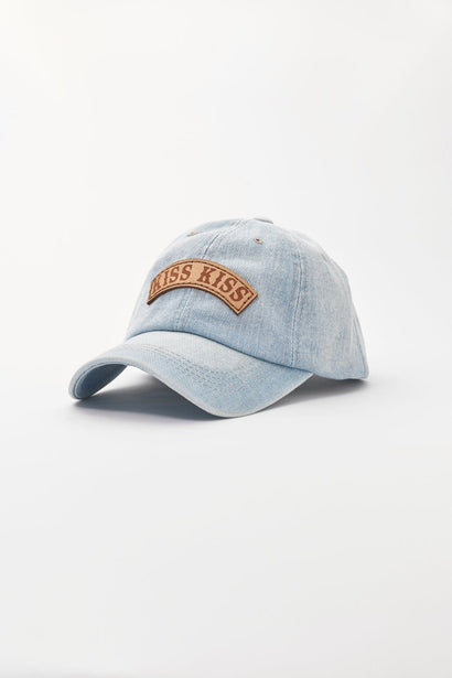Kiss Kiss Bang Bang Denim Baseball Hat