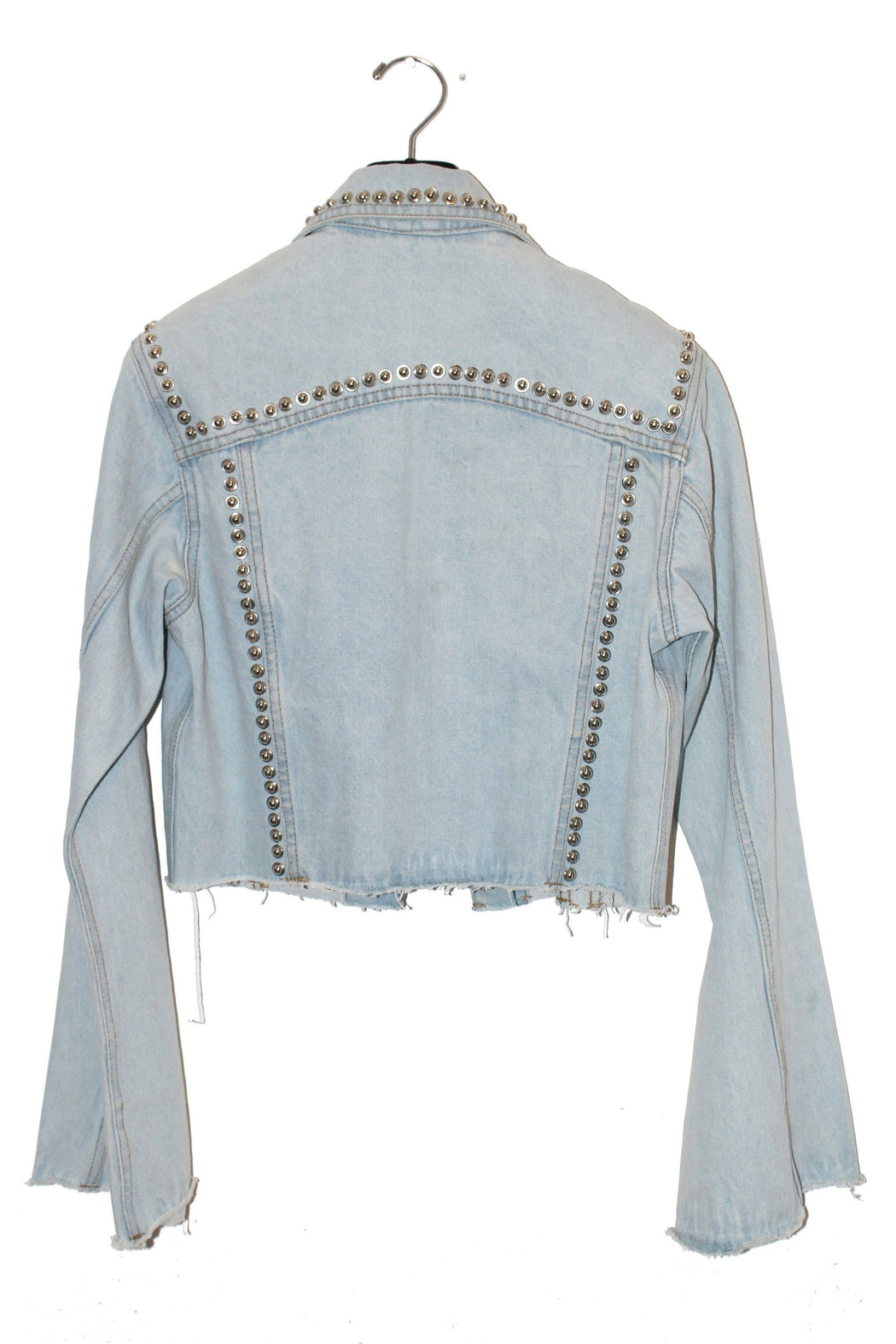 CROPPED BELLE SLEEVE DENIM JACKET