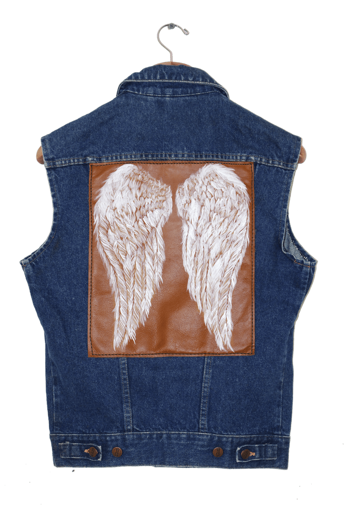 TAKE FLIGHT PAINTED VEST (M) Vintage collection