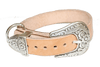 SILENT PERSONALIZED WESTERN DOG COLLAR (LRG)