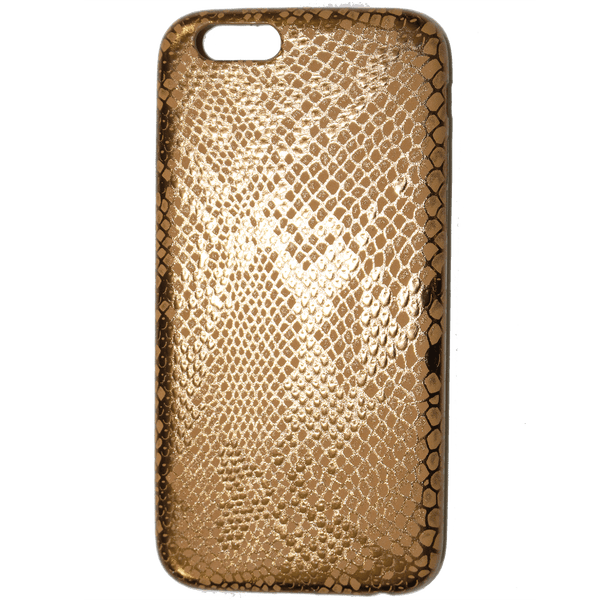 METALLIC BRASS SNAKE PRINT iPHONE 6 CASE