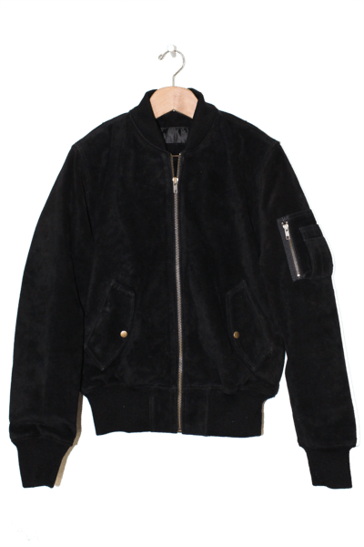 MENS SUEDE MA-1 BOMBER JACKET