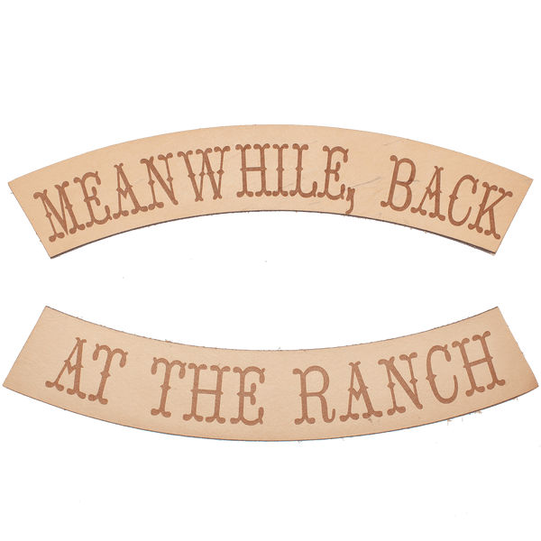 BACK AT THE RANCH BIKER PATCH SET