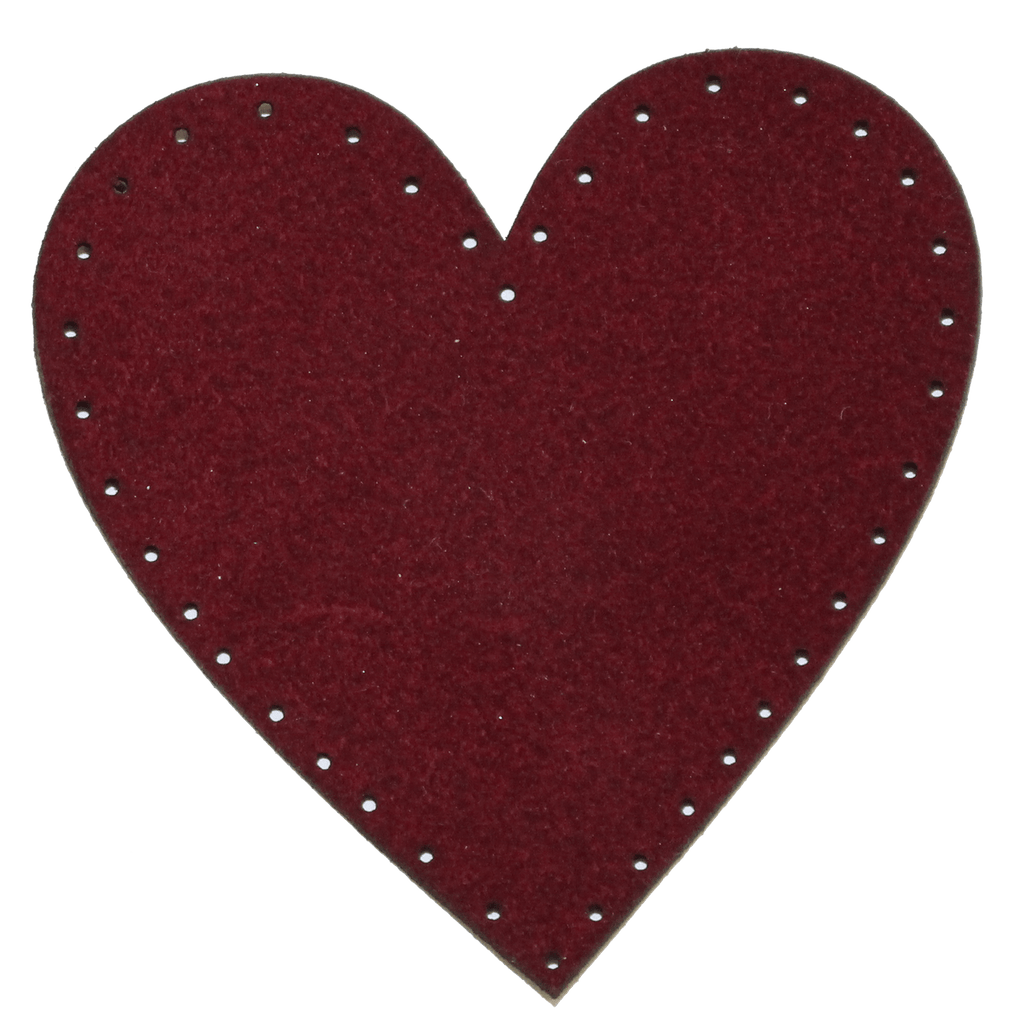 SUEDE HEART PATCH