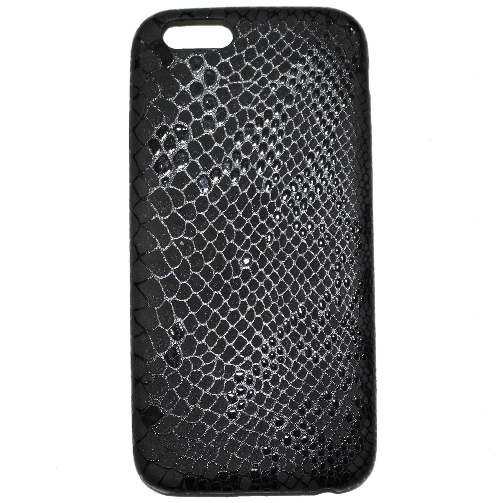 METALLIC BLACK SNAKE PRINT iPHONE 6 CASE