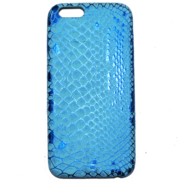 METALLIC BLUE SNAKE PRINT iPHONE 6 CASE