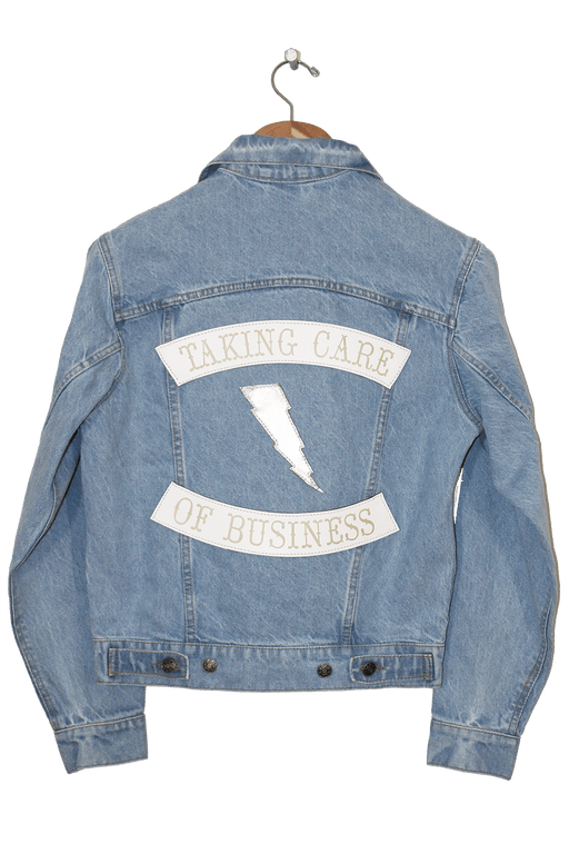 TAKING CARE OF BUSINESS JEAN JACKET