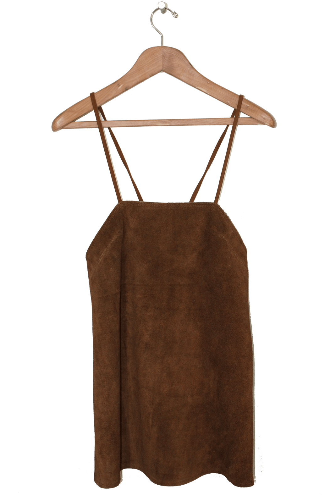 WALK THE LINE TAN MINI PINAFORE DRESS