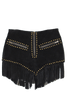 HOLD YOUR HORSES BLACK SUEDE SHORTS