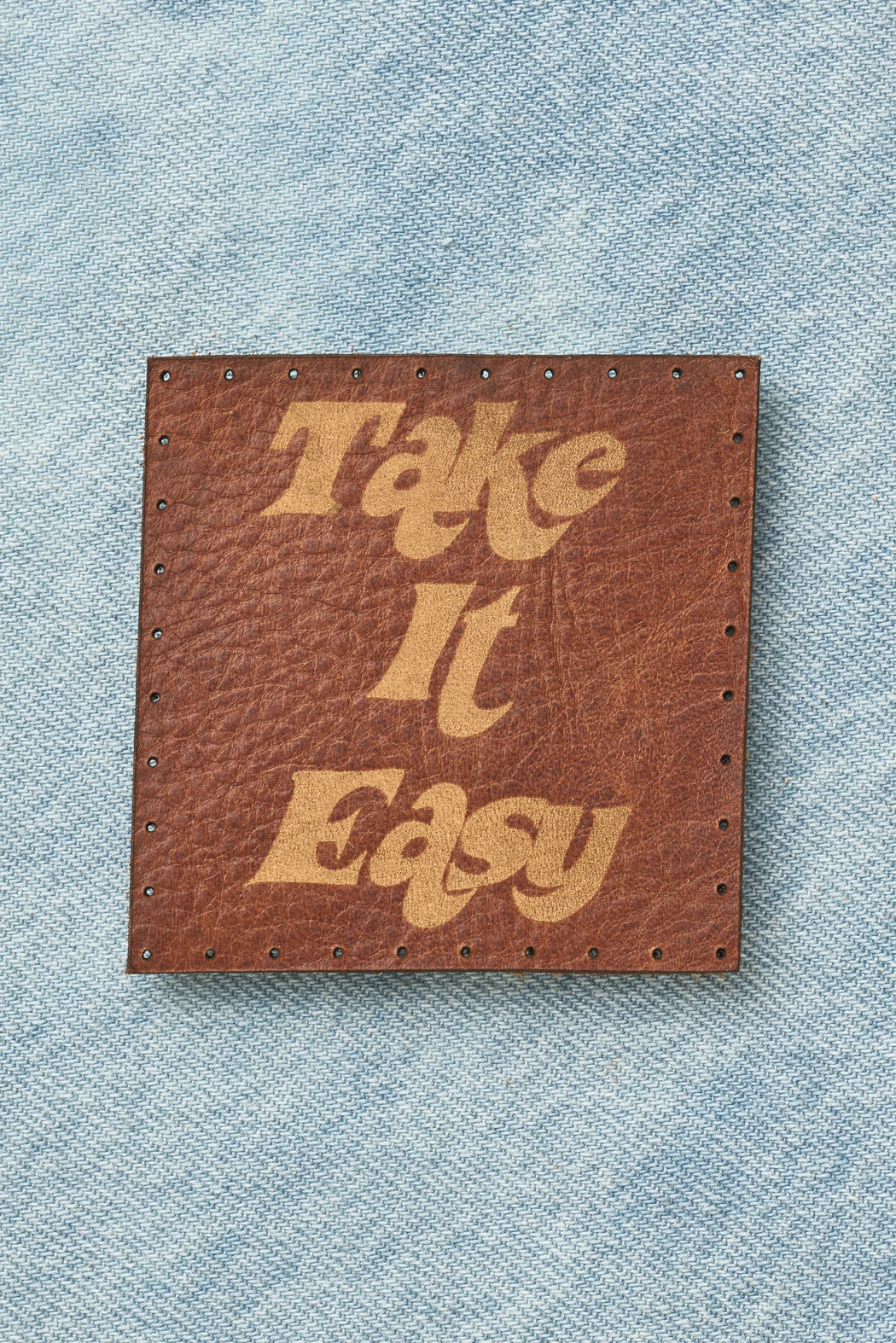 Take It Easy Leather Patch
