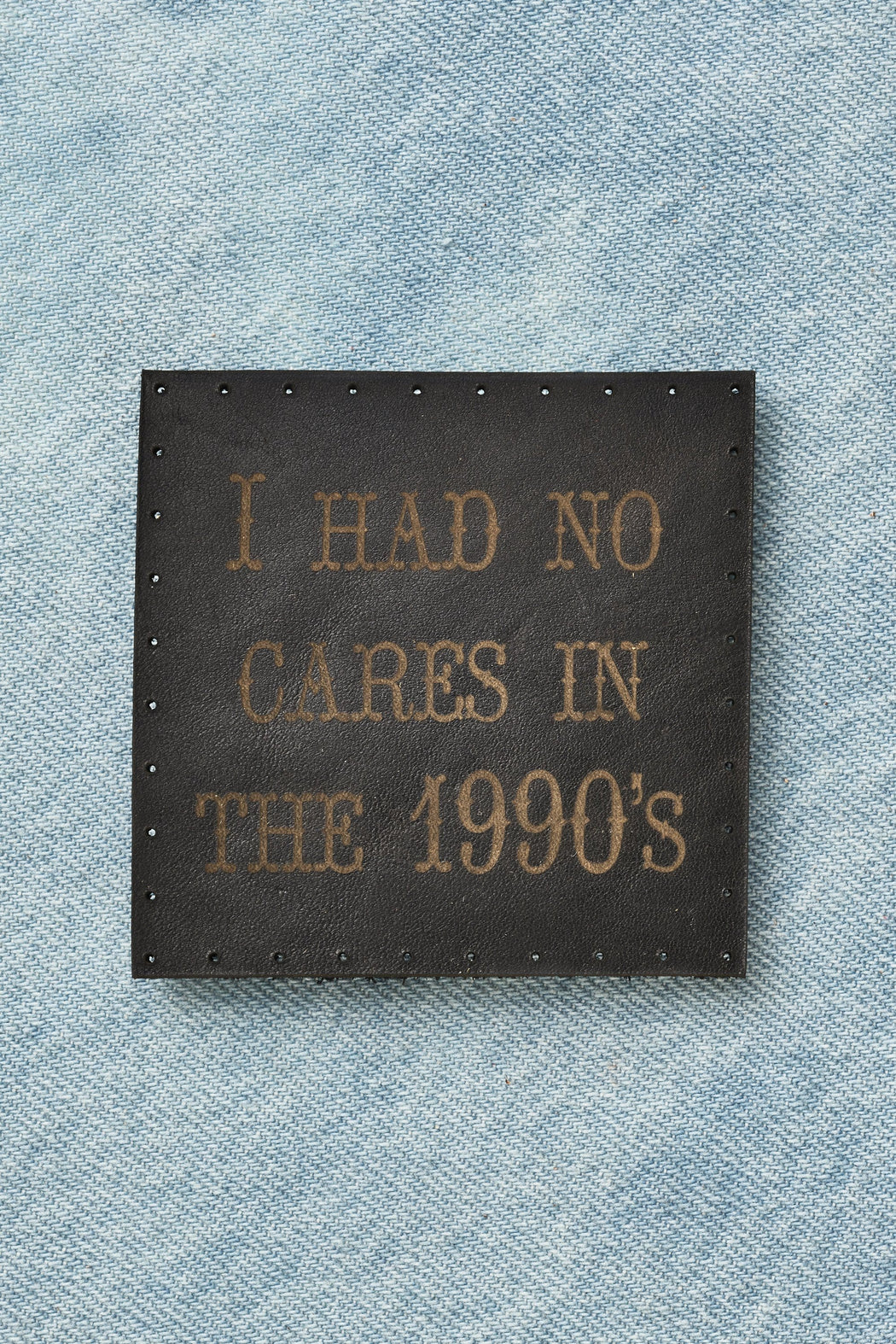 i had no cares in the 1990s patch - black