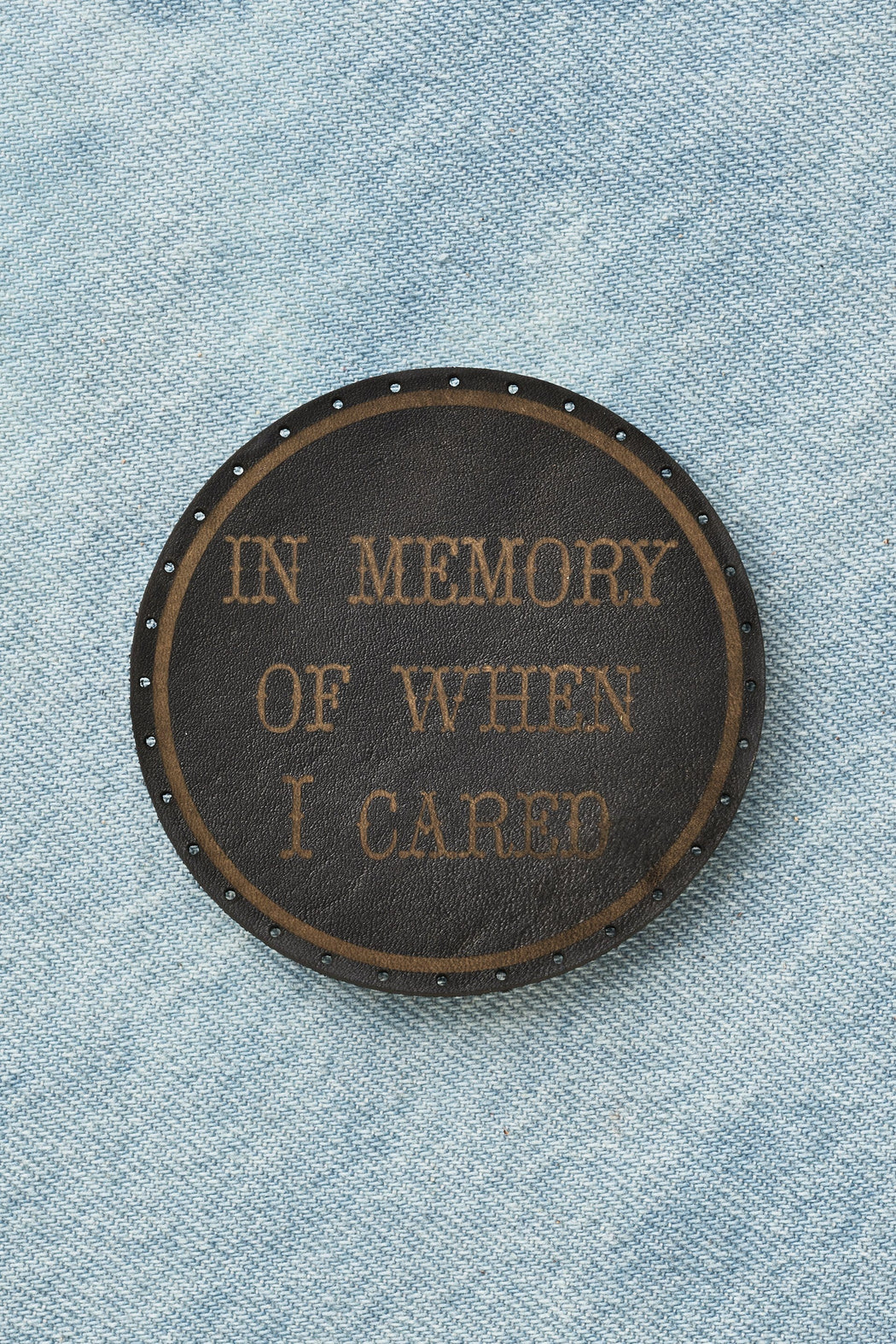 in memory of when i cared patch - black