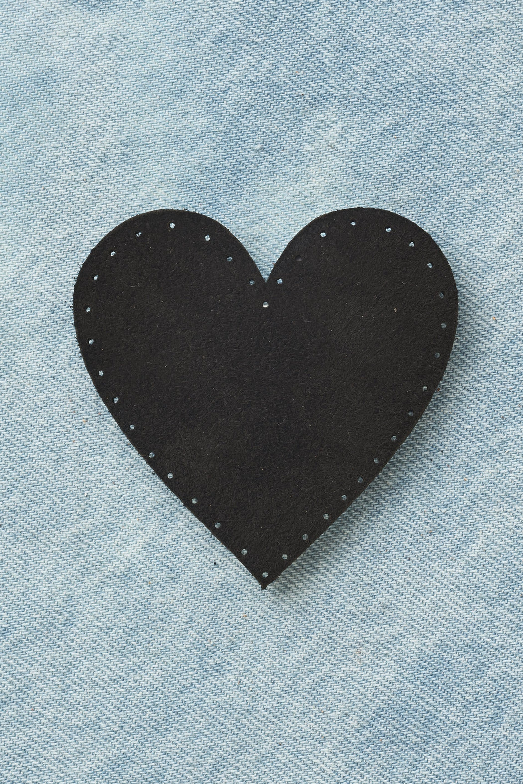 Heart Patch - Black Suede