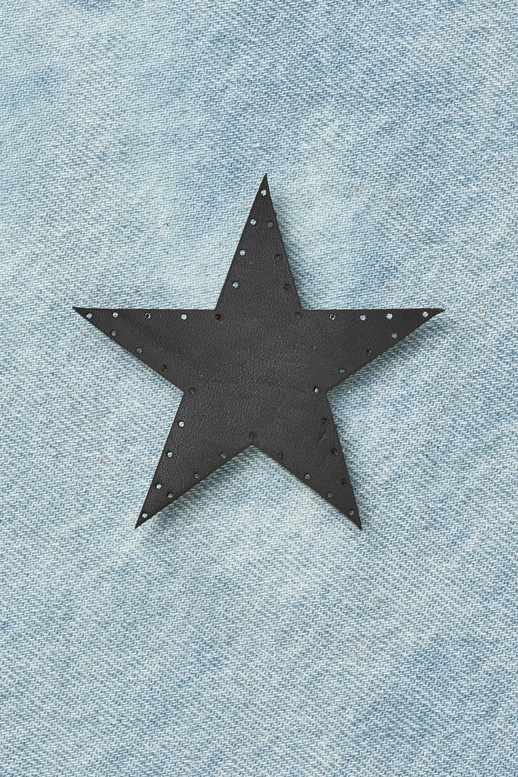 Star Patch - Black Leather