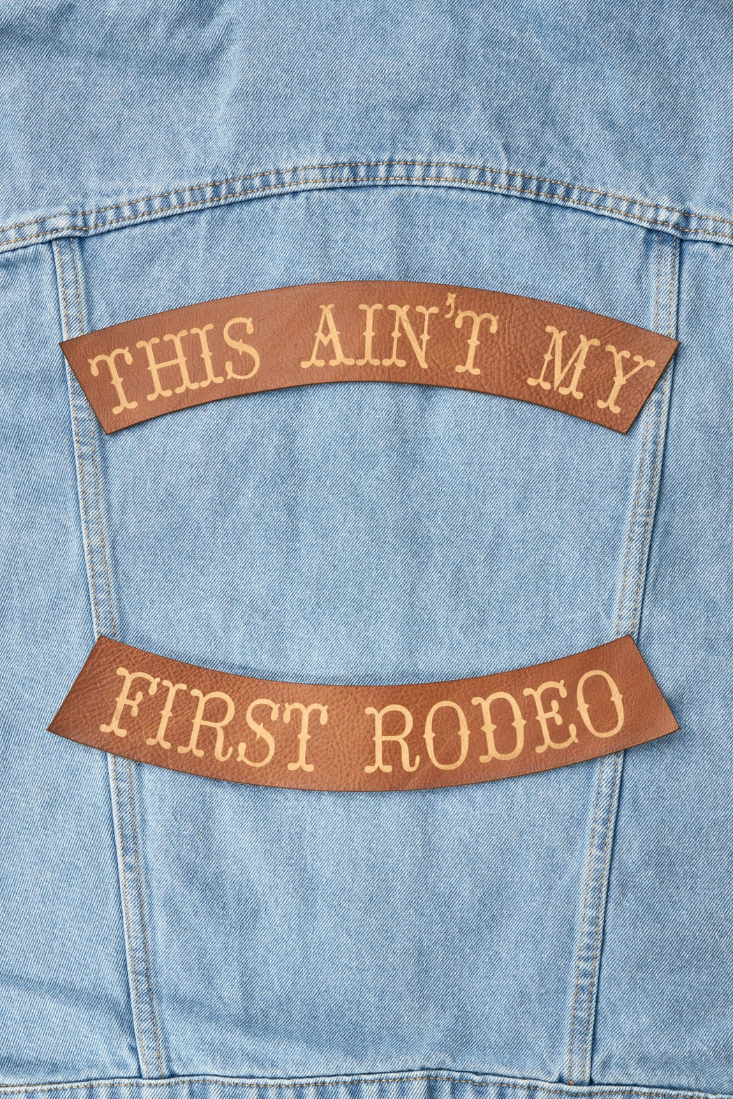 AINT MY FIRST RODEO BIKER PATCH SET - Whiskey