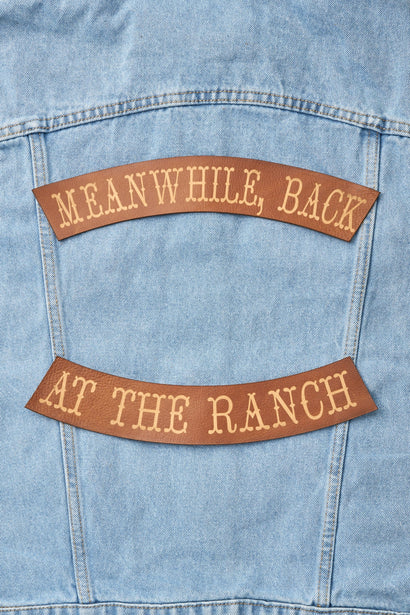 MEANWHILE BACK AT THE RANCH BIKER PATCH SET - Whiskey