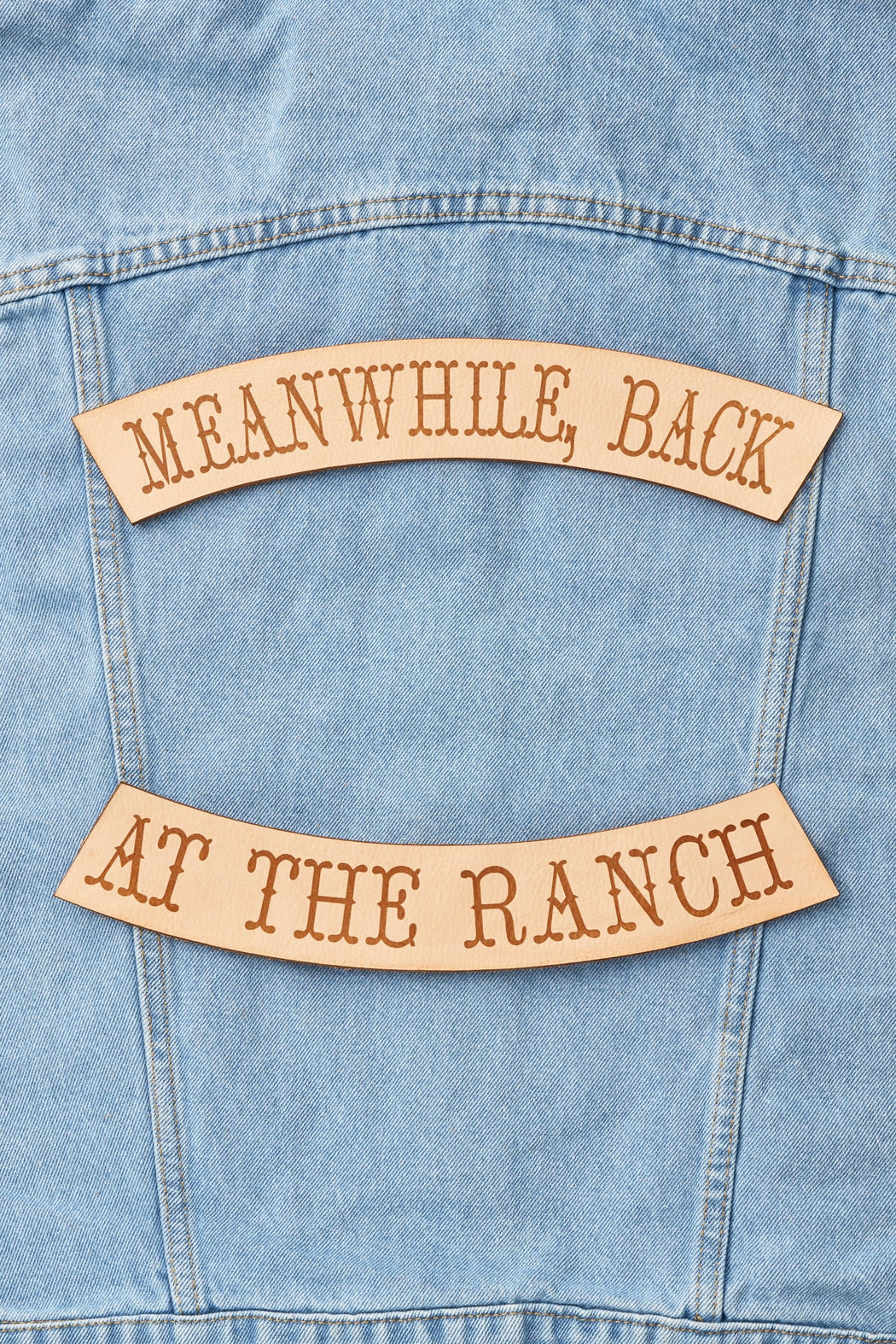 MEANWHILE BACK AT THE RANCH BIKER PATCH SET