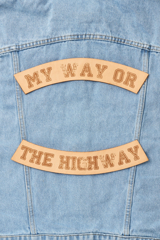 MY WAY OR THE HIGHWAY BIKER PATCH SET