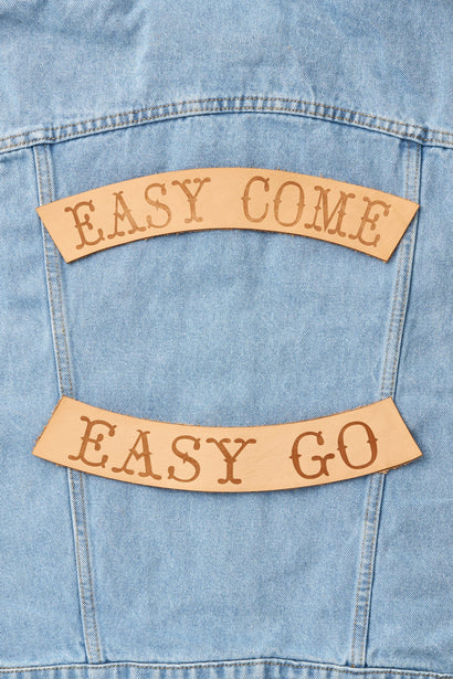 EASY COME EASY GO BIKER PATCH SET