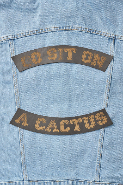 Go Sit On A Cactus Patch Set - Black