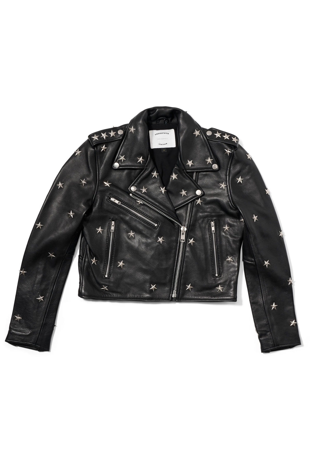 STAR STUDDED MERCY CROP JACKET