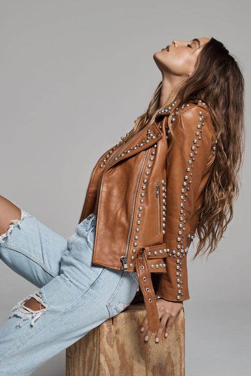 WESTERN DOME STUDDED EASY RIDER JACKET