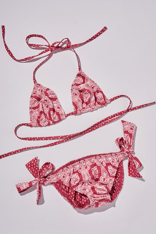 GIDDY UP REVERSIBLE BIKINI - PINK/RED