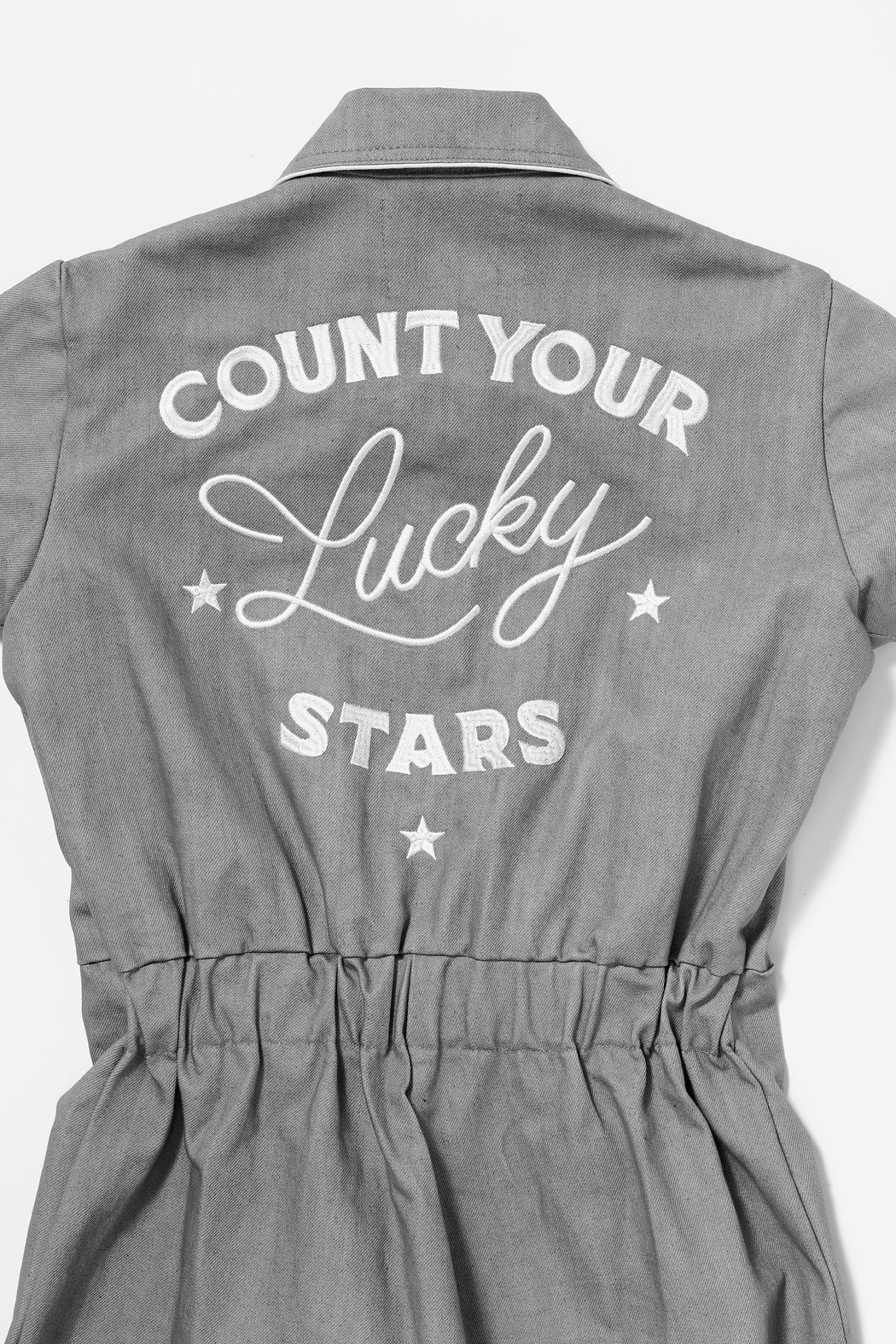 LUCKY STARS JUMPSUIT IN SMOKE
