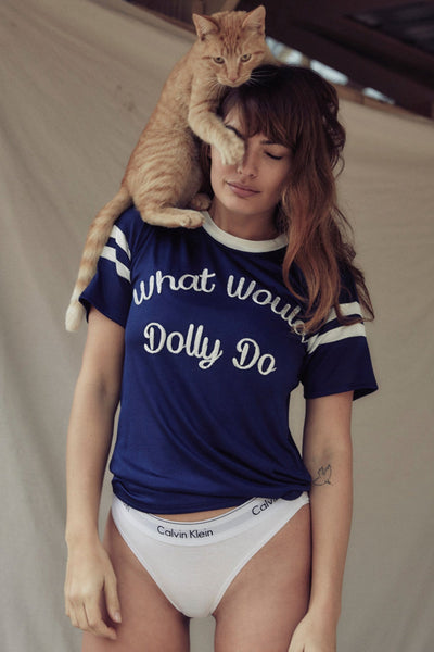 WHAT WOULD DOLLY DO SLINKY TSHIRT